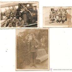 Militaria: MILITARES. LOTE DE 3 FOTOS. Lote 49276413
