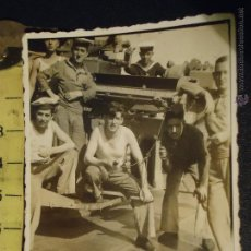 Militaria: CADIZ ALBUNICA - FOTOGRAFIA MILITAR . MILITARES BARCO O BUQUE DE GUERRA. Lote 49310949
