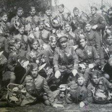 Militaria: FOTOGRAFÍA SOLDADOS Y TURUTAS DIVISIÓN ACORAZADA BRUNETE.. Lote 49338833