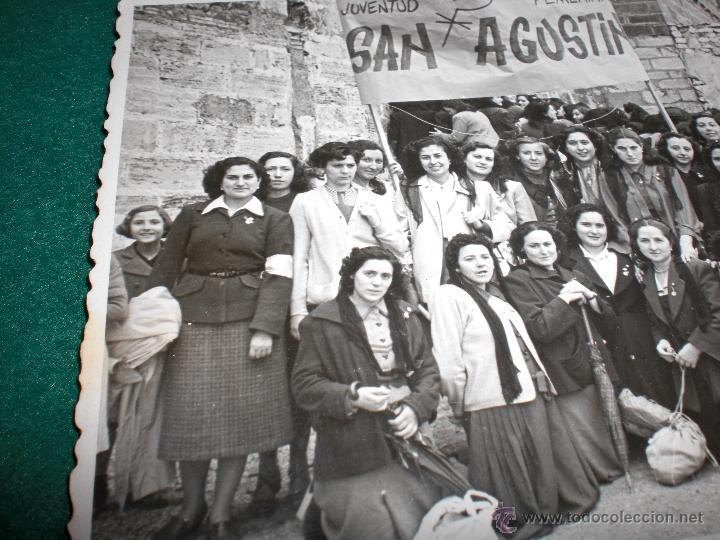 VALENCIA IGLESIA SAN AGUSTÍN F PÉREZ APARISI ANTIGUA FOTOGRAFÍA POS GUERRA CIVIL ACIÓN CATÓLICA (Militar - Fotografía Militar - Guerra Civil Española)