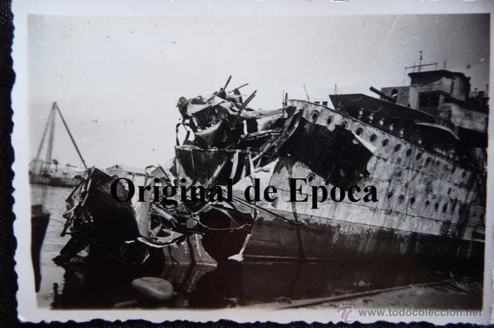 (JX-2523)FOTOGRAFIA ACORAZADO JAIME I,GUERRA CIVIL,ARCHIVO D.LUIS URRA,DIVISION AZUL (Militar - Fotografía Militar - Guerra Civil Española)