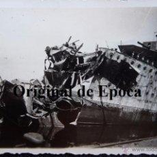 Militaria: (JX-2523)FOTOGRAFIA ACORAZADO JAIME I,GUERRA CIVIL,ARCHIVO D.LUIS URRA,DIVISION AZUL. Lote 50009005