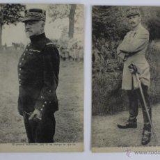 Militaria: P-1793 . DOS POSTALES DE GENERALES FRANCESES DE LA PRIMERA GUERRA MUNDIAL. BALFOURIER Y HOMBERT.. Lote 50096141