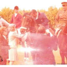 Militaria: FOTOGRAFÍA OFICIALES A CABALLO, ROKISKI DE AVIACIIÓN 12,5X18CM. Lote 50112025