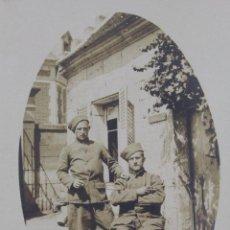 Militaria: P-1896. FOTOGRAFIA DE DOS MILITARES FRANCESES PRINCIPIOS DE SIGLO XX. R. GUILLEMINOT.. Lote 50148954