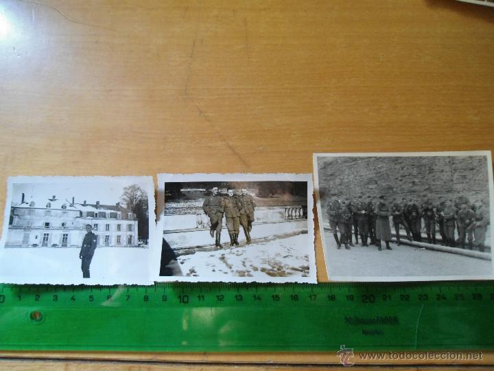 LOTE FOTOGRAFIAS ANTIGUAS SOLDADOS ALEMANES - SEGUNDA GUERRA MUNDIAL (Militar - Fotografía Militar - II Guerra Mundial)