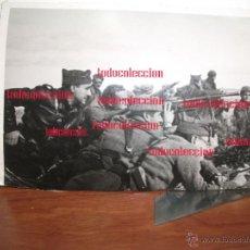 Militaria - Batalla de Belchite antigua fotografia original papel postal 12.5 x 8.3 Guerra civil - 50285873