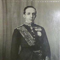 Militaria: FOTOGRAFIA POSTAL ALFONSO XIII. Lote 50414195