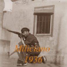 Militaria - MILICIANO – 1936 – GUERRA CIVIL – BARCELONA - NEGATIVO DE VIDRIO - 50532433