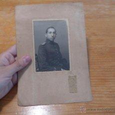 Militaria: ANTIGUA FOTOGRAFIA DE MILITAR INFANTERIA DE ISABEL II, ORIGINAL, MADRID.. Lote 50600584