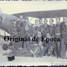 Militaria: (JX-2661)FOTOGRAFIA DE PILOTOS CON AVION,AÑOS 50-60. Lote 50645615