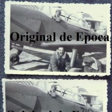 Militaria: (JX-2662)DOS FOTOGRAFIAS DE PILOTOS DE AVION,AÑOS 50-60. Lote 50645651