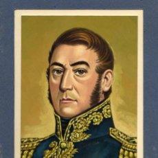 Militaria: DIBUJO ORIGINAL REALIZADO EN GOUACHE DEL MILITAR GENERAL SAN MARTIN. AÑOS 50. Lote 50687650