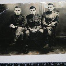 Militaria: OFICIAL Y SUBOFICIALES RUSOS, I GUERRA MUNDIAL WWI, FOTOGRAFIA ORIGINAL - 2ªU. Lote 50737357