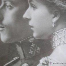 Militaria: GRAN RETRATO DE KAULAK DE ALFONSO XIII Y VICTORIA EUGENIA. FIRMADO Y DEDICADO POR LOS REYES EN 1911.. Lote 50793627