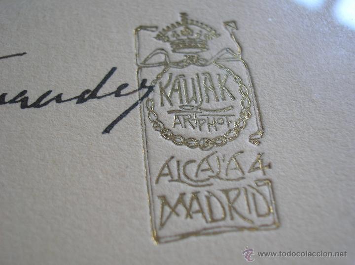 Militaria: GRAN RETRATO DE KAULAK DE ALFONSO XIII Y VICTORIA EUGENIA. FIRMADO Y DEDICADO POR LOS REYES EN 1911. - Foto 5 - 50793627