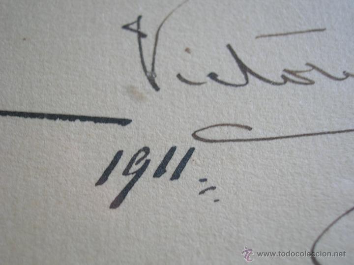 Militaria: GRAN RETRATO DE KAULAK DE ALFONSO XIII Y VICTORIA EUGENIA. FIRMADO Y DEDICADO POR LOS REYES EN 1911. - Foto 7 - 50793627