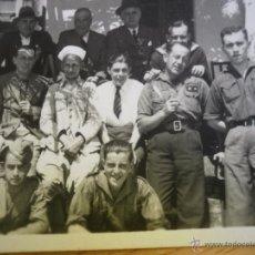 Militaria: FOTOGRAFÍA TENIENTE PROVISIONAL Y SOLDADOS DEL EJÉRCITO NACIONAL. ALGECIRAS. Lote 50874718