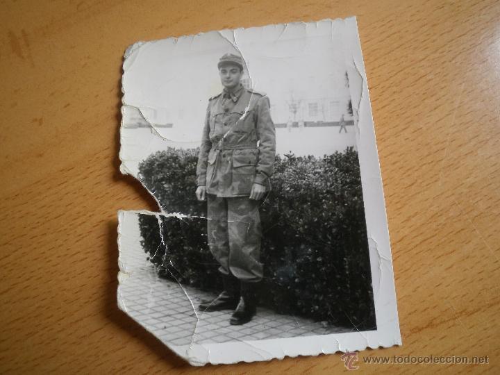 Militaria: Fotografía soldado del ejército español. Camuflaje artesanal - Foto 2 - 51060929
