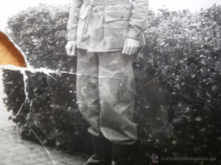Militaria: Fotografía soldado del ejército español. Camuflaje artesanal - Foto 4 - 51060929