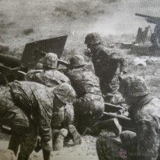 Militaria: FOTOGRAFÍA SOLDADOS ARTILLERÍA DEL EJÉRCITO ESPAÑOL. CAMUFLAJE PENTÓMICO M-59. Lote 51061081