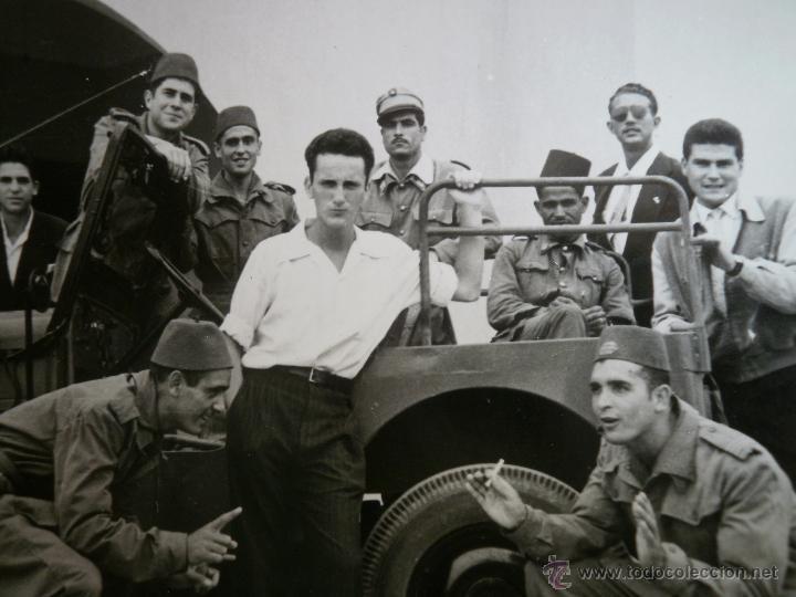 FOTOGRAFÍA OFICIAL TIRADORES DE IFNI. SIDI IFNI JEEP WILLYS (Militar - Fotografía Militar - Otros)