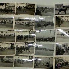 Militaria: LOTE DE 49 FOTOGRAFÍAS DE EQUITACIÓN MILITAR. ORIGINALES ANTIGUAS. Lote 51139580