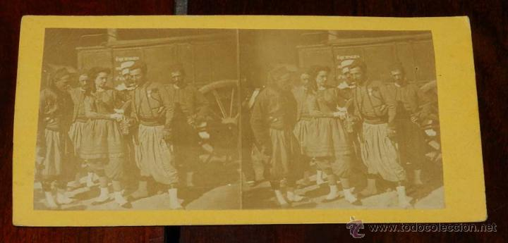 FOTOGRAFÍA ESTEREOSCÓPICA MILITARES I GUERRA MUNDIAL. SOLDADOS TURCOS, MIDE 18 X 9 CM (Militar - Fotografía Militar - I Guerra Mundial)