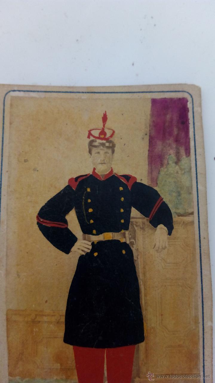 ANTIGUA FOTO POSTAL SOLDADO GUARDIA REAL ESPAÑA DE ÉPOCA 1900 EN COLOR (Militar - Fotografía Militar - Otros)