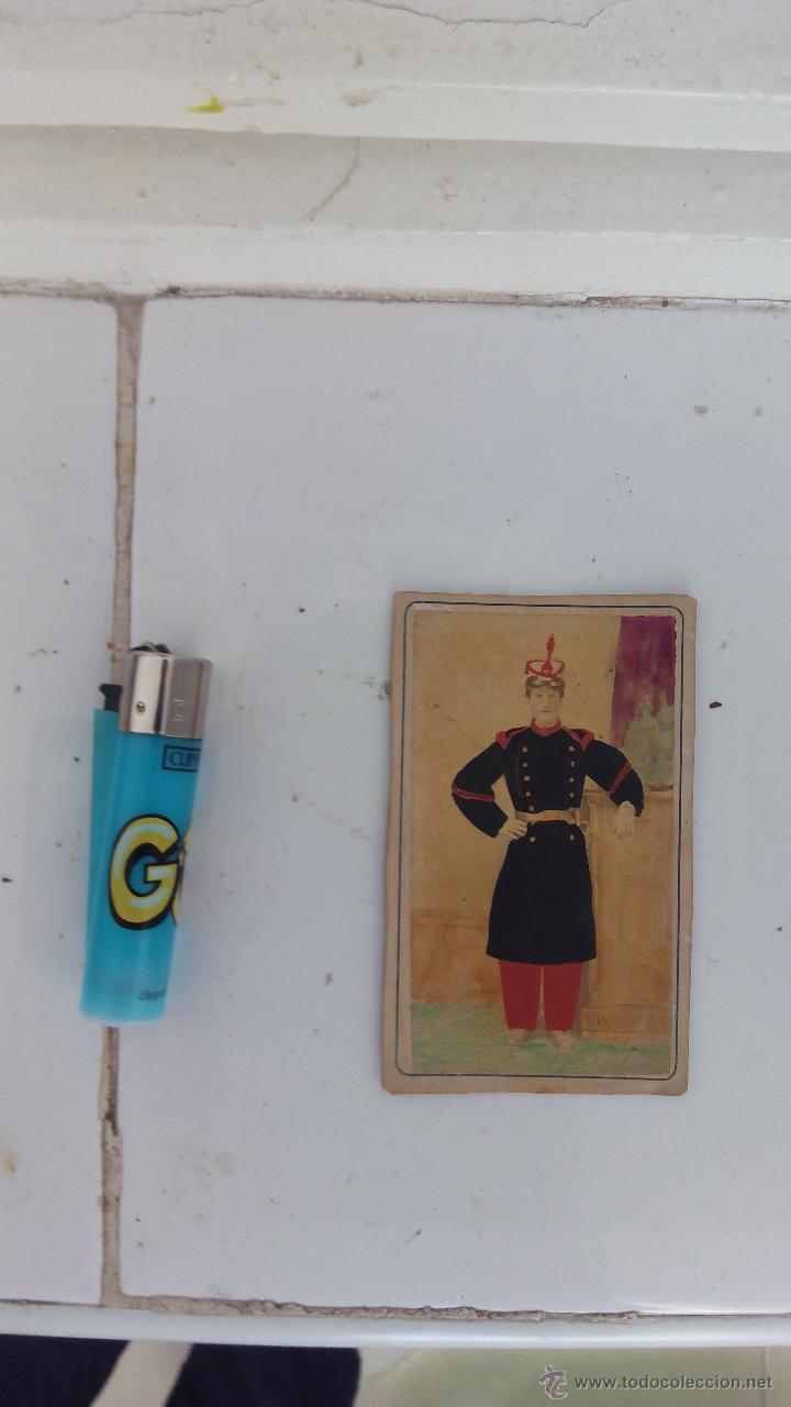 Militaria: Antigua foto postal soldado guardia real España de época 1900 en color - Foto 4 - 51201666