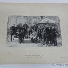 Militaria: FOTOGRAFIA ALBUMINA DE LA ACADEMIA DE INGENIEROS DE GUADALAJARA 1909, GRUPO DE OFICIALES, FOTO J. DA. Lote 51353016