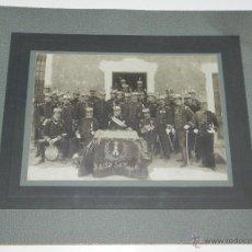 Militaria: FOTOGRAFIA DE OFICIALES DEL 4º REGIMIENTO DE ZAPADORES MINADORES, 2º BATALLON 3ª COMPAÑIA, AÑO 1900 . Lote 51353581
