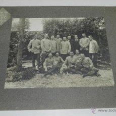 Militaria: FOTOGRAFIA DE GRUPO DE OFICIALES Y TROPA DE ZAPADORES MINADORES, AÑO 1900 APROX., FOTO AMADEO, BARCE. Lote 51354958