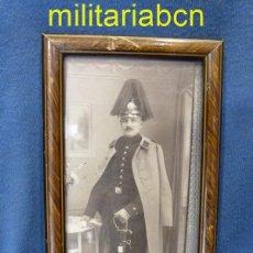 Militaria: FOTOGRAFÍA DE UN OFICIAL ALEMÁN DE LA 1ª GUERRA MUNDIAL. CON MARCO DE ORIGEN.. Lote 51403110