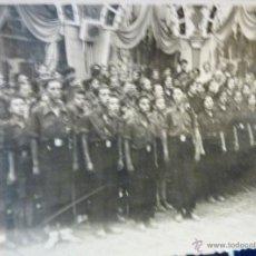 Militaria: FOTO MILITAR FALANGISTAS FRANQUISMO ALELLA TEATRO NIÑOS MILITAR 3 AGOSTO 1939 FINAL GUERRA CIVIL. Lote 51529936