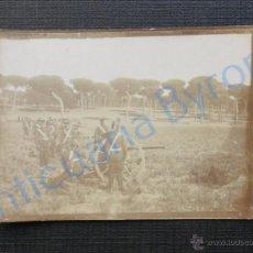 Militaria: FOTOGRAFÍA ANTIGUA ORIGINAL. MILITARES Y CAÑONES. PRINCIPIOS SIGLO XX. (9 X 6,5 CM) . Lote 51541363