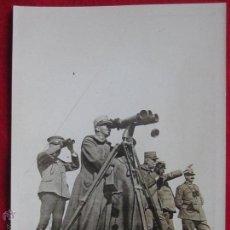Militaria: FOTOGRAFIA ORIGINAL 16,5CMX12CM. REY VICTOR MANUEL III DE ITALIA EN EL FRENTE (1915).. Lote 51737304