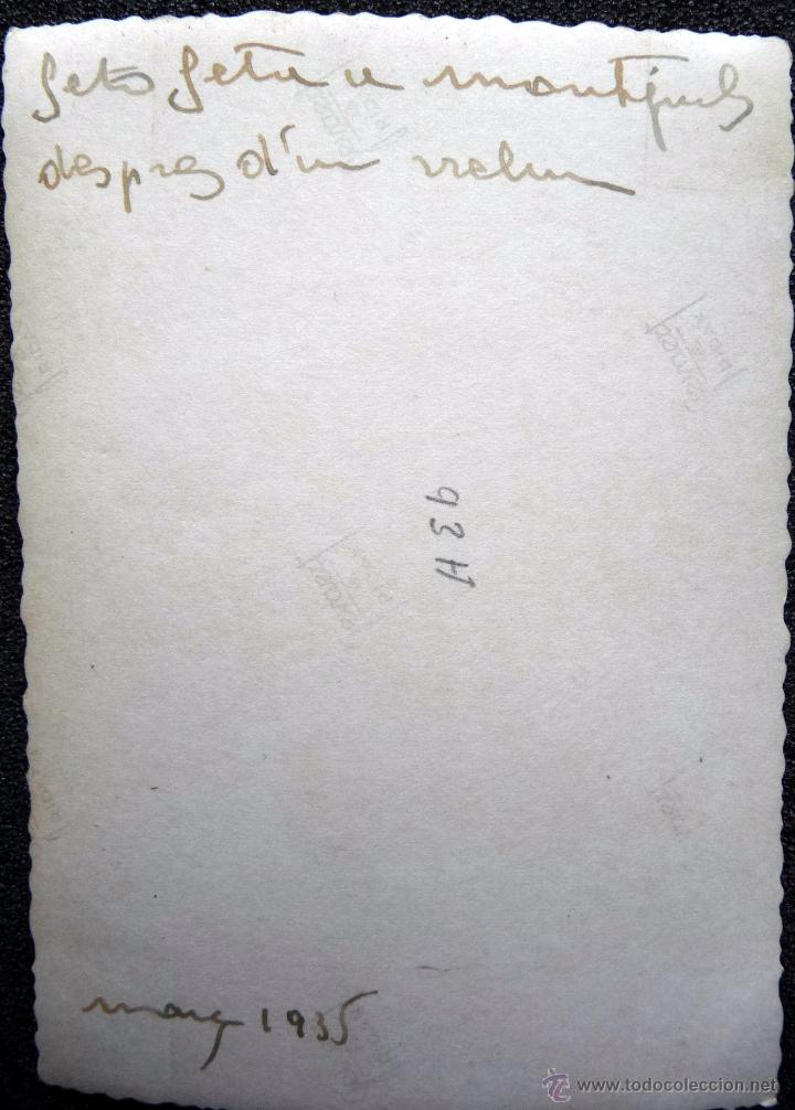 Militaria: (JX-111)FOTOGRAFIA SOLDADOS CASTILLO DE MONTJUICH,1935,CAPELLA COMISARIO POLITICO GUERRA CIVIL - Foto 2 - 52166153