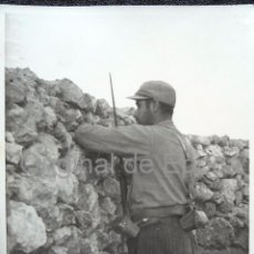 Militaria: (JX-120)FOTOGRAFIA DE SOLDADO CATALAN EN LA ALCARRIA,OCTUBRE 1937-GUERRA CIVIL. Lote 52166247