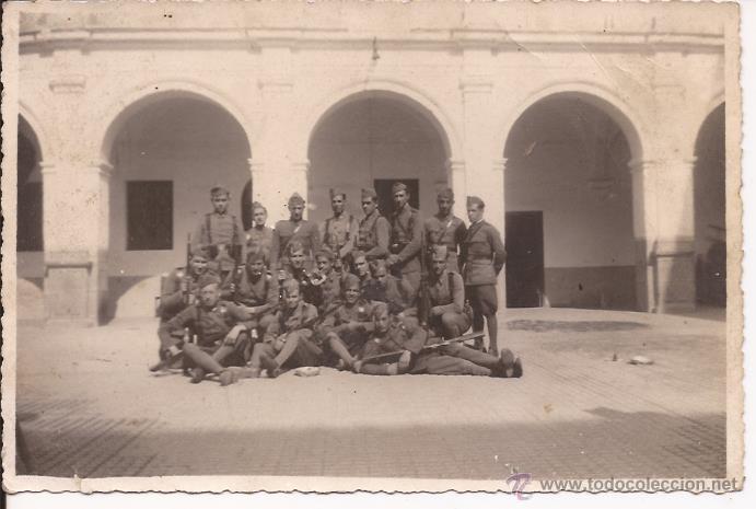 FOTOGRAFÍA DE BATALLÓN SOLDADOS DE INFANTERÍA (Militar - Fotografía Militar - Otros)