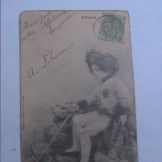 Militaria: FOTOGRAFIA SOBRE TARJETA POSTAL. 1903. CORREO MILITAR ENTRE SOLDADO Y FAMILIA. FRANCIA.. Lote 52427499