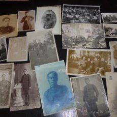 Militaria: LOTE 17 FOTOGRAFIA ORIGINAL DE MILITARES ESPAÑOLES, ALFONSO XIII, GUERRA AFRICA Y GUERRA CIVIL. Lote 52429084