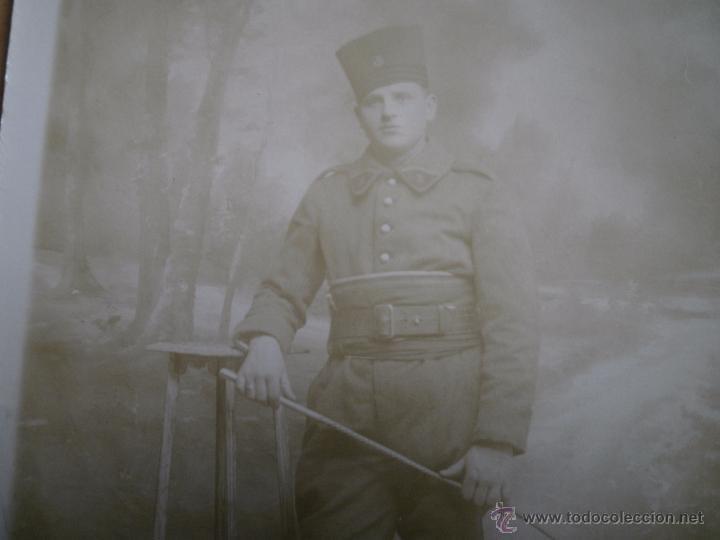 Militaria: Fotografía soldado del ejército francés. 1ºGM - Foto 3 - 52480689