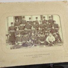 Militaria: ANTIGUA FOTOGRAFIA. 2º REGIMIENTO DE ZAPADORES MINADORES. MADRID. 1900. MEDIDAS: 31 X 25CM. LEER. Lote 52649410