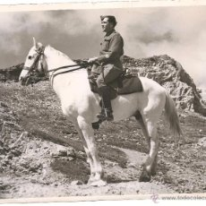 Militaria: OFICIAL BRITÁNICO A CABALLO EN TÚNEZ EN FECHA 2 DE ABRIL DE 1943. Lote 52767496