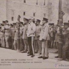 Militaria: FOTOGRAFÍA POSTAL , ACADEMIA DE INFANTERÍA - VISTA DEL AGREGADO MILITAR DE FRANCIA- 1913 - 14. Lote 52802973