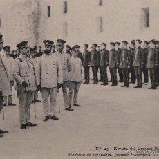 Militaria: FOTOGRAFÍA POSTAL, ACADEMIA DE INFANTERÍA 1912 - REVISTA DEL CORONEL DIRECTOR. Lote 52805024
