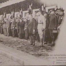 Militaria: FOTOGRAFÍA POSTAL, ACADEMIA DE INFANTERÍA CURSO 1913 - 14 - VISITA DE M. POINCARÉ. Lote 52805119