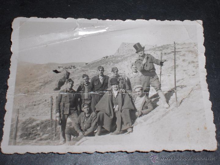 FOTO FOTOGRAFIA SOLDADOS FALANGE EN FRENTE DE ARAGÓN. (Militar - Fotografía Militar - Guerra Civil Española)