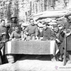Militaria: FOTOGRAFIA DE CRISTAL NEGATIVO MILITARES EN LA GUERRA DEL RIF (MARRUECOS) 1912 APROXIMADAMENTE, MIDE. Lote 52919076